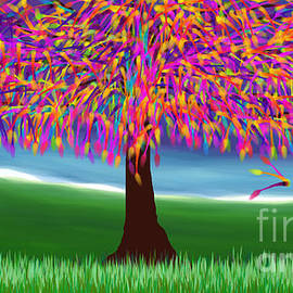 Purple Tree by Maria Faria Rodrigues