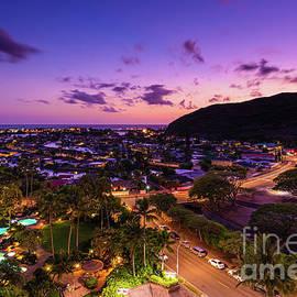 Purple Twilight over Hawaii Kai by Phillip Espinasse