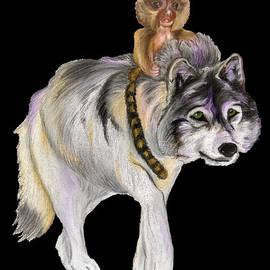 Pygmy Marmoset and Wolf by Maria Sibireva