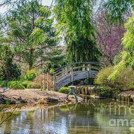 Quaint Botanical Bridge by Jennifer White