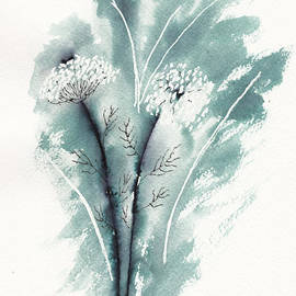 Queen Anne's Lace in Ink by Conni Schaftenaar