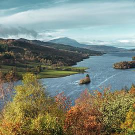 Loch Tummel at Autumn by Dave Bowman