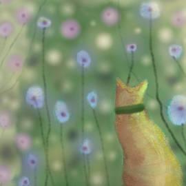 Quigley in the Garden by Angela Davies