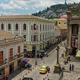 Quito Street Scene by Sally Weigand