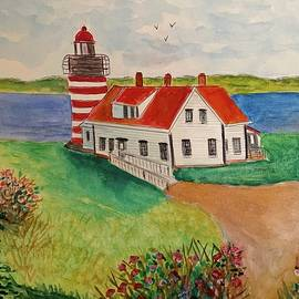 Quoddy Head Lighthouse by Anne Sands