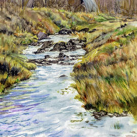 Quonset by the Stream by Vicky Lilla