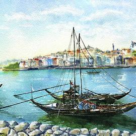Rabelo Boats at Porto Ribeira by Dora Hathazi Mendes
