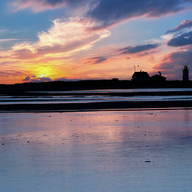 Race Point Lighthouse Silhouette  by Bill Wakeley