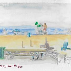 Racine North Beach Lifeguard  by Kenneth Michur