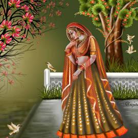 Radha in garden by Anjali Swami