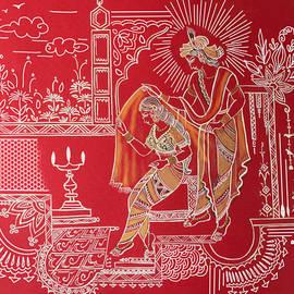 Radha Krishna painting  by Anjali Swami