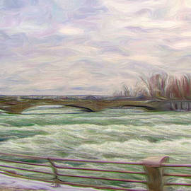 Raging Niagara River by Susan Hope Finley