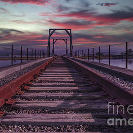 Railroad Sunset by Mitch Shindelbower