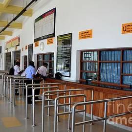 Railway station ticket counters and travelers Jaffna train station Sri Lanka by Imran Ahmed