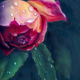 Rain Kissed Rose by Karen Kennedy Chatham