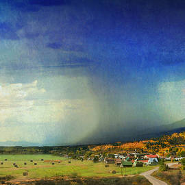 Rain Storm At Small Colorado Town by R christopher Vest
