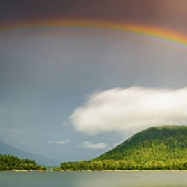 Rainbow Across The Lake- Wide Format by Joy McAdams