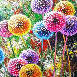 Rainbow Dandelions  by Joshua Golden