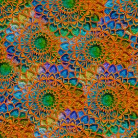 Rainbow Mandala Crochet Pattern by Mary Poliquin - Policain Creations