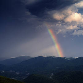 Rainbow Over Blue Ridge Mountains by Ryan Johnson