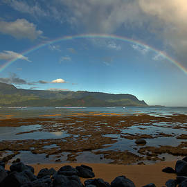Rainbow Over Hanalei Bay by Stephen  Vecchiotti