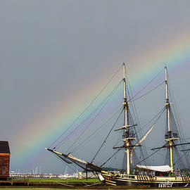 Rainbow over Salems Friendship by Jeff Folger