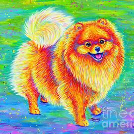 Rainbow Pomeranian by Rebecca Wang