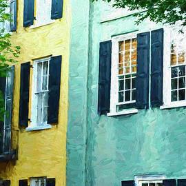 Rainbow Row 2 - Charleston by Allen Beatty