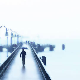 Rainy Day at the Baltic Sea by Angelika Vogel