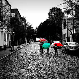 Rainy Day on Cobblestones by Matt Richardson