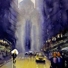Rainy LaSalle Street by Max Good