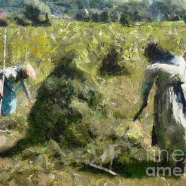 Raking Hay by Dragica Micki Fortuna