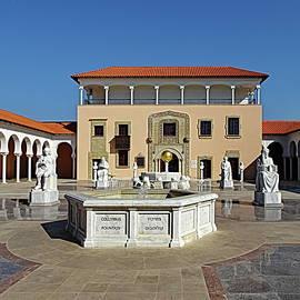 Ralli 2 Museum Courtyard, Caesarea, Israel  by Lyuba Filatova