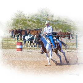 Ranch Rider Digital Art Painting by Walter Herrit