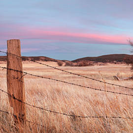 Rancho Cuyamaca Fence at Sunset by William Dunigan
