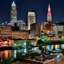 Rarest Cleveland Cityscape View by Frozen in Time Fine Art Photography