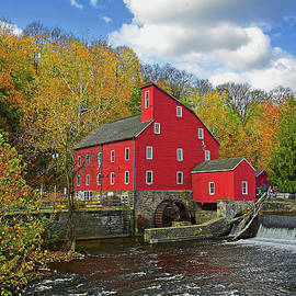 Raritan River Red Mill in Autumn by Regina Geoghan
