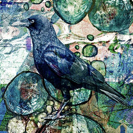 Raven Abstract by Sandra Selle Rodriguez