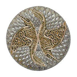 Raven Mandala Shield by Michele Avanti