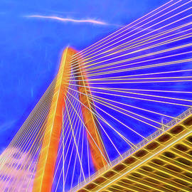 Ravenel Bridge  5 - Charleston by Allen Beatty