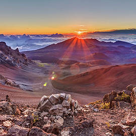 Ray of Sunshine at the Summit of Haleakala Volcano by Pierre Leclerc Photography