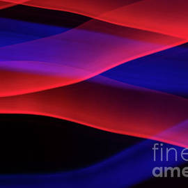 Red and Blue Waves of Light by Linda Howes