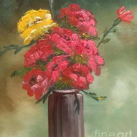 Red and Yellow Roses by Lee Piper