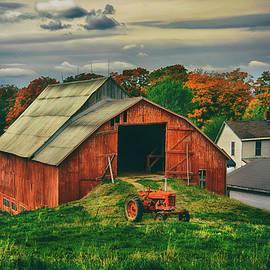 Red Barn and the Farmall by Joann Vitali