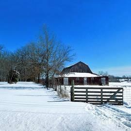 Barn In The Snow by Karen Tauber
