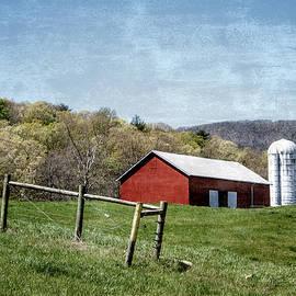 Red Barn with Silo by David Beard