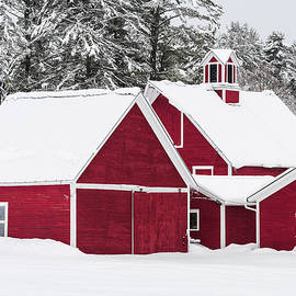 Red Barns In Winter by Alan L Graham