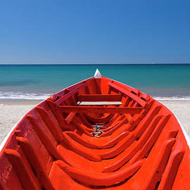 Red Boat, St Lucia by Justin Foulkes