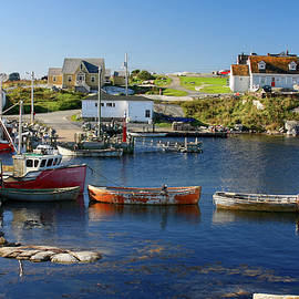 Red boats in Peggy's Cove Nova Scotia by Tatiana Travelways