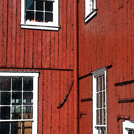 Red Building by Jean Hall